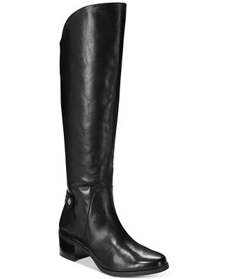 Anne Klein Jela Wide-Calf Block Heel Boots
