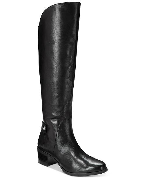 b280f4269e97 Anne Klein Jela Wide-Calf Block Heel Boots   Reviews - Boots - Shoes ...