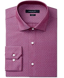 Marc New York Men's Slim-Fit Motion-Ease Collar Wrinkle-Free Diamond Print Dress Shirt