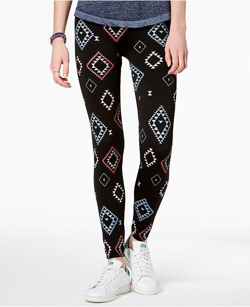 08ede49c5746fc Hippie Rose Juniors' Printed Fleece-Lined Leggings & Reviews ...