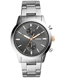 Fossil Men's Townsman Chronograph Stainless Steel Bracelet Watch 44mm