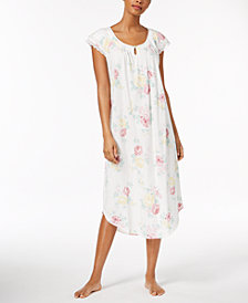 Charter Club Lace-Trim Cotton Nightgown, Created for Macy's