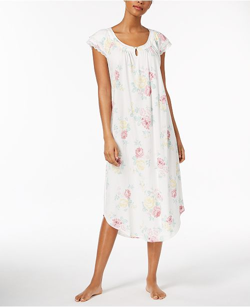 Charter Club Lace-Trim Cotton Nightgown 2d9891da9