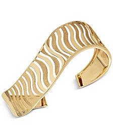Wavy Cuff Bracelet in 14k Gold