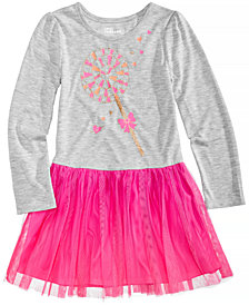 Epic Threads Long-Sleeve Lollipop-Print Tutu Dress, Little Girls, Created for Macy's