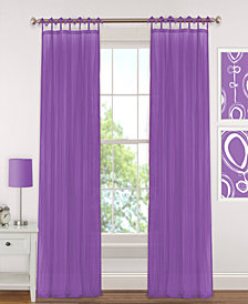 Elrene Greta Crushed Sheer Curtain Panels