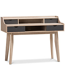 Fella 4-Drawer Desk, Quick Ship