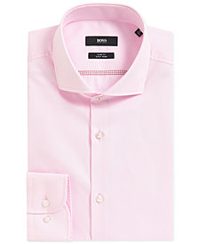 BOSS Men's Slim-Fit Cotton Dress Shirt