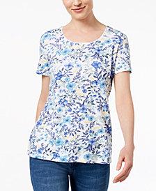Karen Scott Print T-Shirt, Created for Macy's