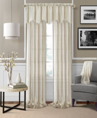 "Enza Semi-Sheer Jacquard Stripe Pair of 52"" x 84"" Panels"