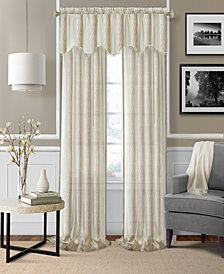 "Elrene Enza Semi-Sheer Jacquard Stripe Pair of 52"" x 95"" Panels"