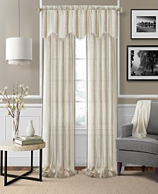 Elrene Enza Semi-Sheer Jacquard Stripe Window Treatment Collection