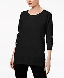 Karen Scott 3/4-Sleeve Sweatshirt, Created for Macy's