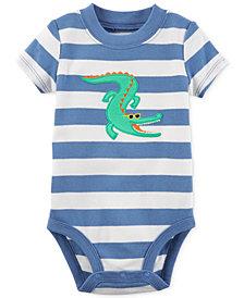 Carter's Alligator Striped Cotton Bodysuit, Baby Boys