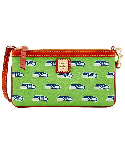 Dooney & Bourke Seattle Seahawks Large Wristlet