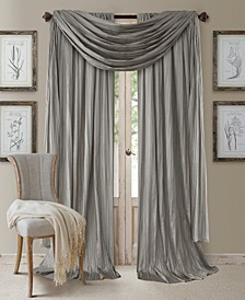 "Athena Rod Pocket 52"" x 95"" Pair of Curtain Panels with Scarf Valance, Set of 3"