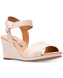 Clarks Collection Women's Lafely Aletha Wedge Sandals