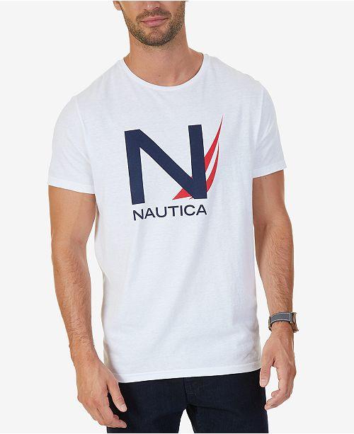 06607689 Nautica Men's Big & Tall Graphic-Print T-Shirt - T-Shirts - Men - Macy's