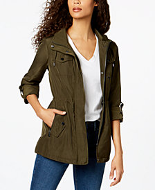 MICHAEL Michael Kors Hooded Tab-Sleeve Anorak
