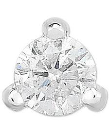 Diamond Single Stud Earring (1/10 ct. t.w.) in 14k White Gold