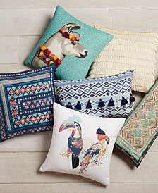 Whim by Martha Stewart Collection Decorative Pillow Collection, Created for Macy's