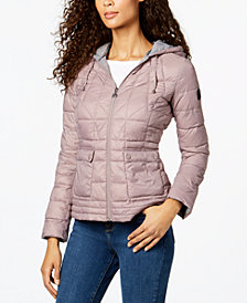 Bernardo Hooded Lightweight Puffer Coat