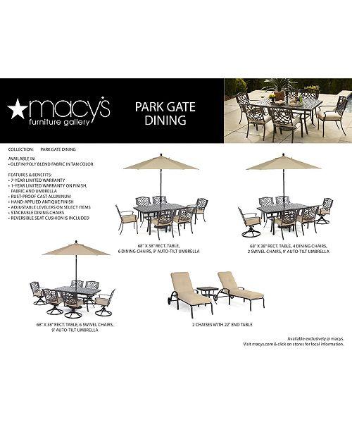 ... Furniture CLOSEOUT! Park Gate Outdoor Cast Aluminum 7-Pc. Dining Set  (68 ... 6b194d39c