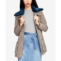 RACHEL Rachel Roy Faux-Fur-Collar Utility Jacket Deals