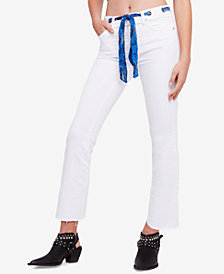 Free People Belt Out Cropped Bootcut Jeans