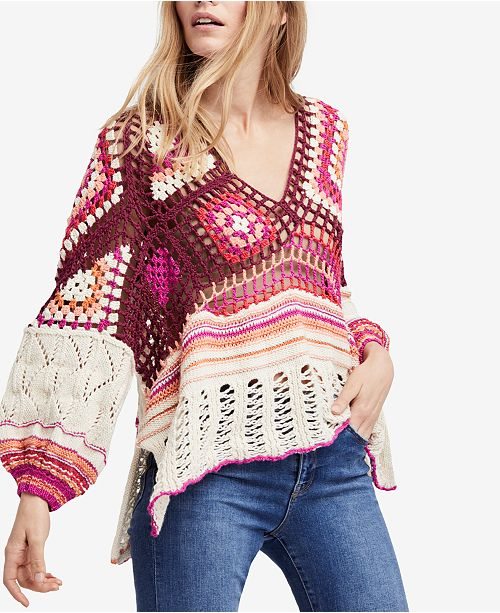 c14c267dcb Free People Call Me Crochet Sweater   Reviews - Sweaters - Women ...
