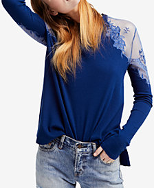 Free People Daniella Embroidered Illusion Top