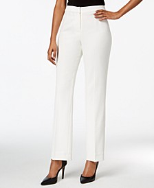 Straight-Leg Crepe Pants