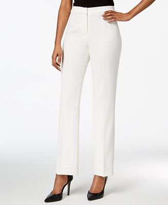 petite pants white