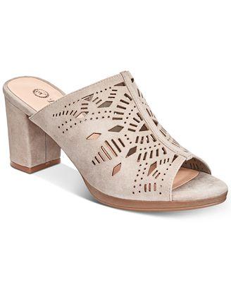 Bella Vita Women's Lark Laser Perforated Slide Sandal