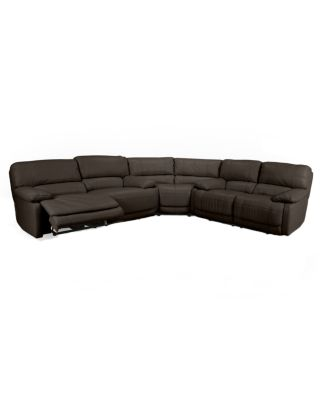 nina 3piece leather power reclining sectional sofa