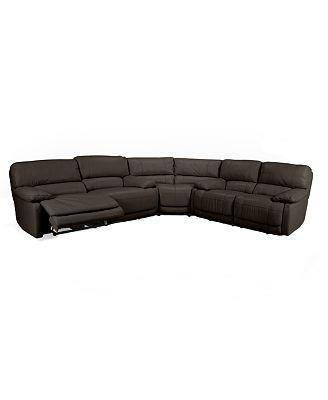 Nina sofa nina fabric reclining sofa furniture macy s for Nina leather sectional sofa