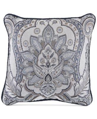 "Seren Chenille Damask Jacquard 18"" Square Decorative Pillow"
