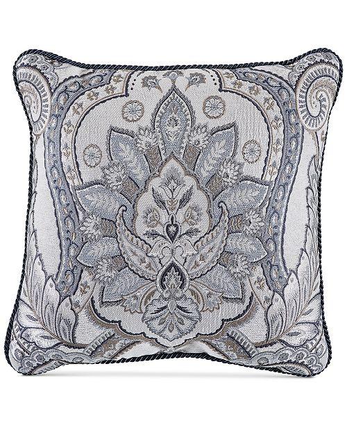 Croscill Seren Chenille Damask Jacquard 40 Square Decorative Pillow Awesome Decorative Pillows Cheap Prices