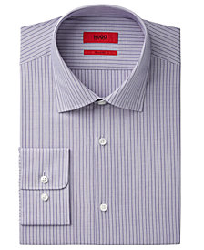 HUGO Men's Fitted Stripe Dress Shirt