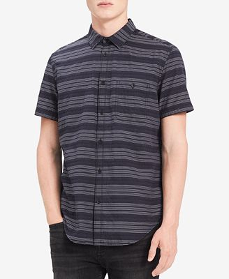 Calvin Klein Jeans Men's Textured Striped Shirt