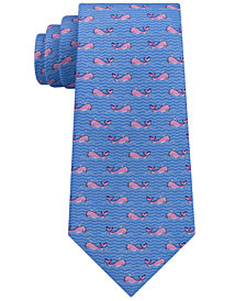 Tommy Hilfiger Men's Conversational Whale Silk Tie