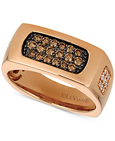 Le Vian Gents™ Men's Diamond Cluster Ring (5/8 ct. t.w.) in 14k Rose Gold
