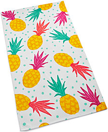 Martha Stewart Collection Tossed Pineapple Cotton Graphic-Print Beach Towel, Created for Macy's