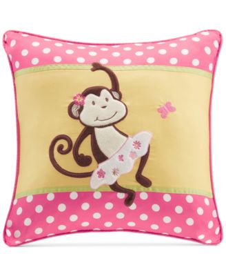 "Monkey Business 20"" Square Decorative Pillow"