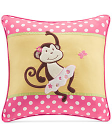 "Mi Zone Kids Monkey Business 20"" Square Decorative Pillow"