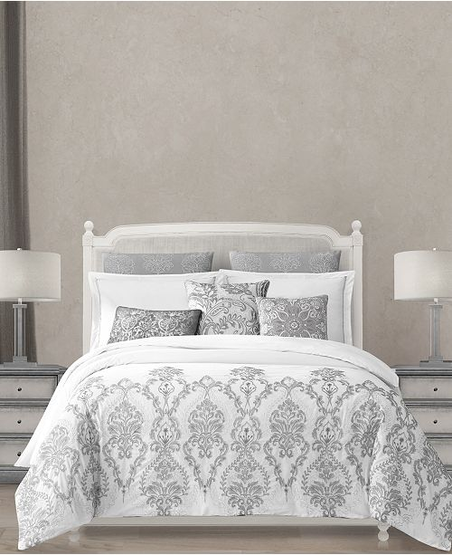 The Kaya Cotton Comforter Sets From Lacourte Feature Comfort Of Percale And Fashionable Style Metallic Embroidery Making This A Great