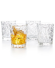 Bormioli Rocco Lounge Double Old Fashioned Glasses, Set of 4