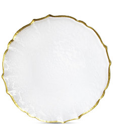 Jay Imports Ice Queen With Gold-Tone Rim Charger Plate