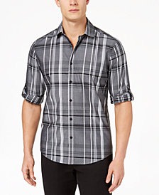 Alfani Men's Plaid Shirt, Created for Macy's