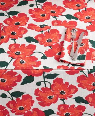 "CLOSEOUT! Painted Poppies 102"" Tablecloth"